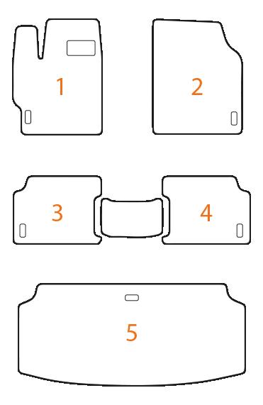 Комплект EVA ковриков в салон + коврик в багажник